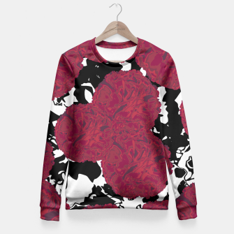 Miniatur FLOWERY MARBLE MESS  Fitted Waist Sweater, Live Heroes