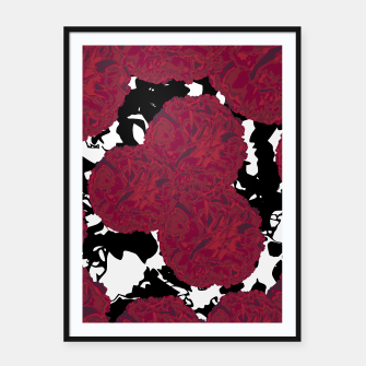Miniaturka FLOWERY MARBLE MESS  Framed poster, Live Heroes