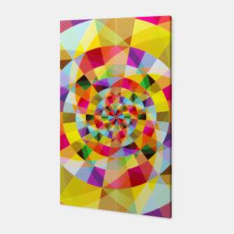 Miniaturka Colorful Abstract Swirly Tune Design (Fancy Fresh And Modern Hippy Style) Canvas, Live Heroes