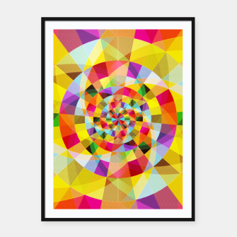 Miniaturka Colorful Abstract Swirly Tune Design (Fancy Fresh And Modern Hippy Style) Framed poster, Live Heroes