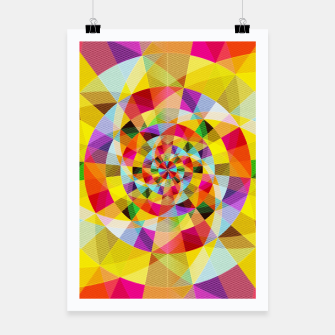 Miniaturka Colorful Abstract Swirly Tune Design (Fancy Fresh And Modern Hippy Style) Poster, Live Heroes