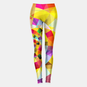 Miniaturka Colorful Abstract Swirly Tune Design (Fancy Fresh And Modern Hippy Style) Leggings, Live Heroes