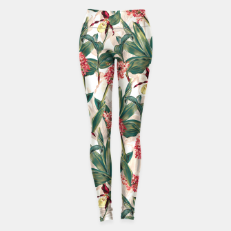 Thumbnail image of Tropical Leaf Pattern Leggings, Live Heroes