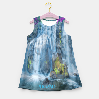 Miniaturka lat us run wild  Girl's Summer Dress, Live Heroes