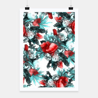 Miniaturka Red Flowers  Poster, Live Heroes