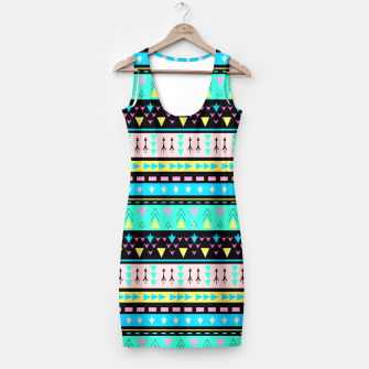 Miniaturka Colorful Boho Tribal Pattern 1 Kleid, Live Heroes