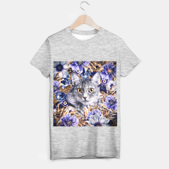 Miniaturka Cat In Flowers. Autumn T-shirt regular, Live Heroes