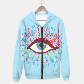 Thumbnail image of Abstract Blue Psychedelic Eye Hoodie, Live Heroes