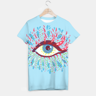 Thumbnail image of Abstract Blue Psychedelic Eye T-shirt, Live Heroes