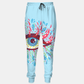 Thumbnail image of Abstract Blue Psychedelic Eye Sweatpants, Live Heroes