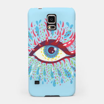 Thumbnail image of Abstract Blue Psychedelic Eye Samsung Case, Live Heroes