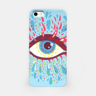 Thumbnail image of Abstract Blue Psychedelic Eye iPhone Case, Live Heroes