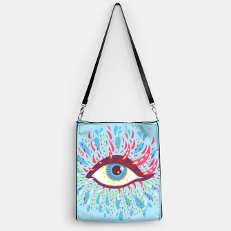 Thumbnail image of Abstract Blue Psychedelic Eye Handbag, Live Heroes
