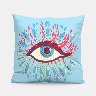 Thumbnail image of Abstract Blue Psychedelic Eye Pillow, Live Heroes