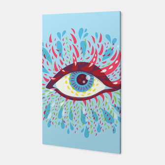 Thumbnail image of Abstract Blue Psychedelic Eye Canvas, Live Heroes