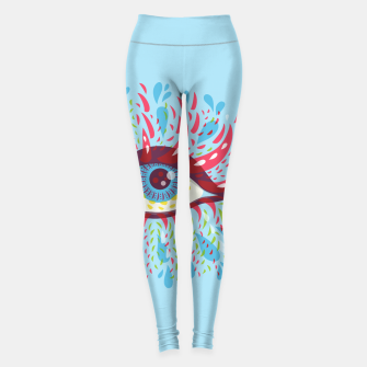 Thumbnail image of Abstract Blue Psychedelic Eye Leggings, Live Heroes