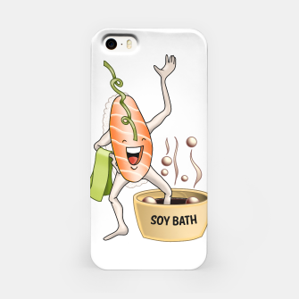 Miniatur Sushi Sake takes a Soy Bath iPhone Case, Live Heroes