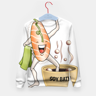Miniatur Sushi Sake takes a Soy Bath Kid's Sweater, Live Heroes