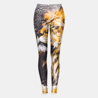 Miniaturka lion with white and yellow triangle  Leggings, Live Heroes