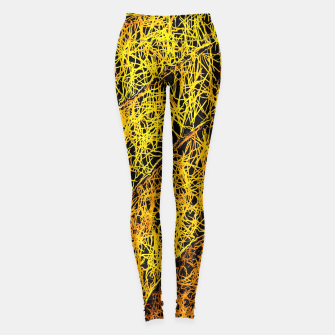 Miniaturka graffiti drawing and painting rotten yellow leaf texture abstract  Leggings, Live Heroes