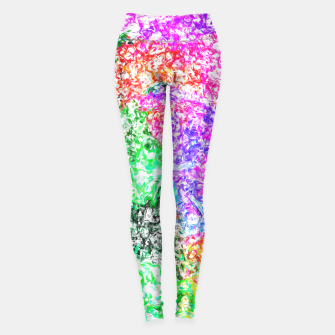 Miniaturka psychedelic splash painting abstract in pink purple green blue orange and yellow Leggings, Live Heroes