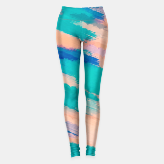 Miniaturka camouflage graffiti splash painting abstract in pink green and blue Leggings, Live Heroes