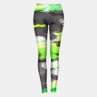 Miniaturka psychedelic graffiti camouflage splash painting abstract in green yellow and black Leggings, Live Heroes