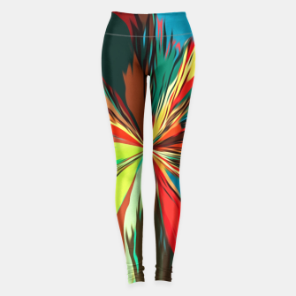 Miniaturka geometric graffiti splash painting abstract in red green yellow blue and brown Leggings, Live Heroes