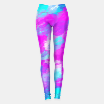 Miniaturka pink and blue lipstick kisses background Leggings, Live Heroes