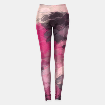 Miniaturka pink and black lipstick kisses background Leggings, Live Heroes