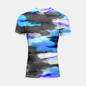 Thumbnail image of purple blue and black painting texture abstract background Shortsleeve Rashguard, Live Heroes