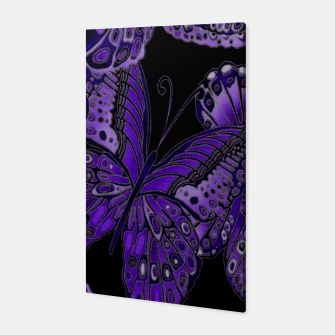 Thumbnail image of Purple Butterfly Pattern Canvas, Live Heroes