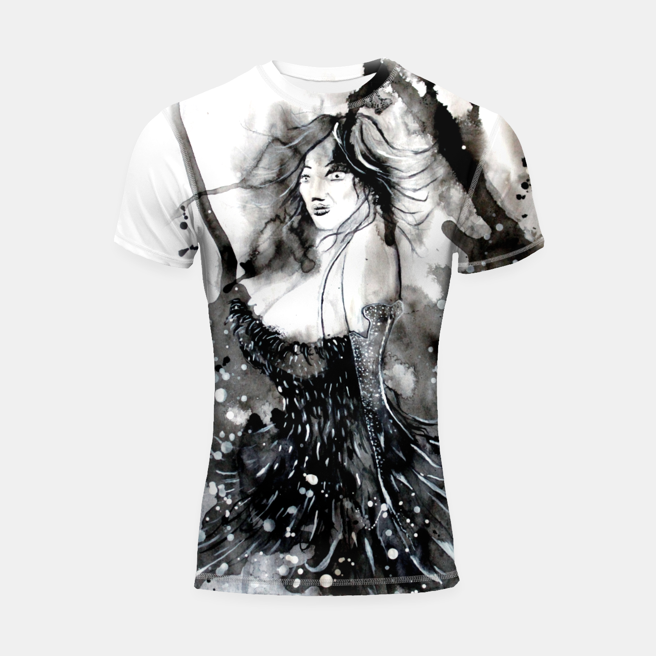 Image of Bride of the night Shortsleeve Rashguard - Live Heroes
