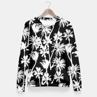 Thumbnail image of messy palm trees Fitted Waist Sweater, Live Heroes