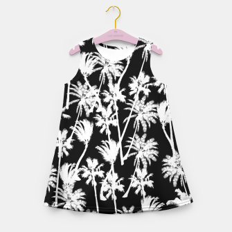 Thumbnail image of messy palm trees Girl's Summer Dress, Live Heroes