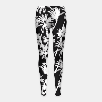 Thumbnail image of messy palm trees Girl's Leggings, Live Heroes