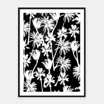 Thumbnail image of messy palm trees Framed poster, Live Heroes