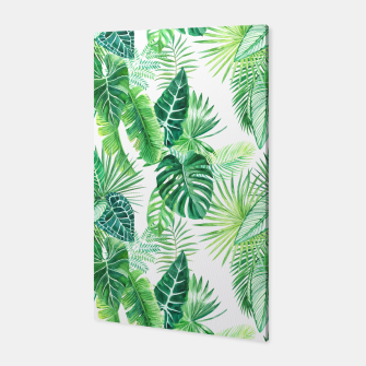 Thumbnail image of Tropical Leaves Pattern Canvas, Live Heroes