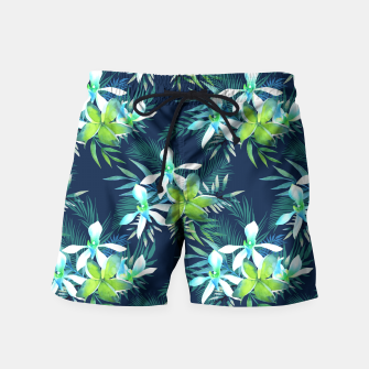 Thumbnail image of Tropical Flowers Pattern Badeshorts, Live Heroes