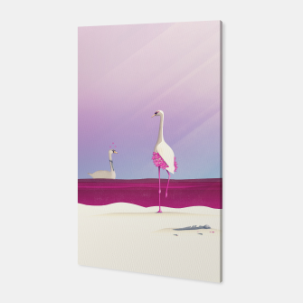 Thumbnail image of Flamingo Fatale Canvas, Live Heroes
