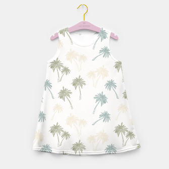 Thumbnail image of Decorative Palm Trees Mädchen-Sommerkleid, Live Heroes