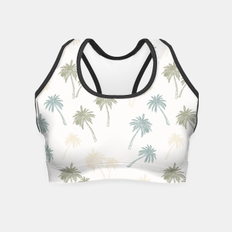 Thumbnail image of Decorative Palm Trees Crop Top, Live Heroes
