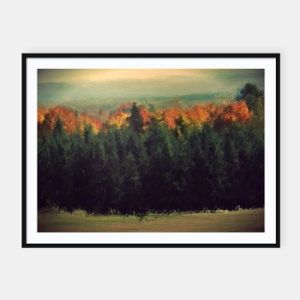 Thumbnail image of New England Autumn Framed poster, Live Heroes