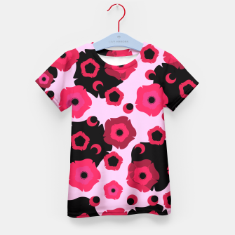 Thumbnail image of Pink poppies Kid's T-shirt, Live Heroes