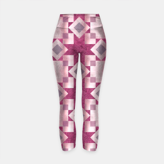 Thumbnail image of Violet Quilt Yoga Pants, Live Heroes