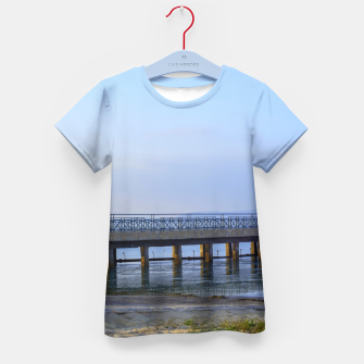 Thumbnail image of Photo of pier in sunset with anchor Kid's T-shirt, Live Heroes