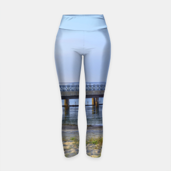 Thumbnail image of Photo of pier in sunset with anchor Yoga Pants, Live Heroes