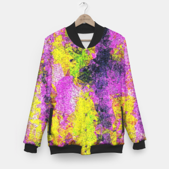 Miniatur vintage psychedelic painting texture abstract in pink and yellow with noise and grain Baseball Jacket, Live Heroes