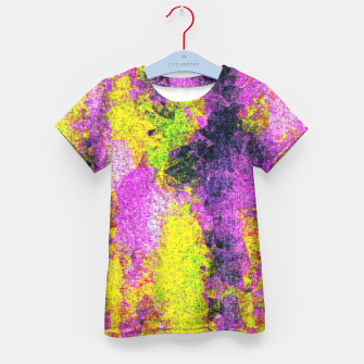 Thumbnail image of vintage psychedelic painting texture abstract in pink and yellow with noise and grain Kid's T-shirt, Live Heroes