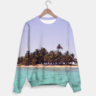 Thumbnail image of Tropical Caribbean Island Sweater, Live Heroes
